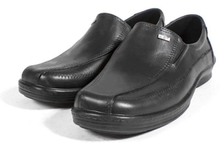 【艾咪】牛頭牌 商務雨天皮鞋 仿皮革 防水鞋 廚師鞋 黑