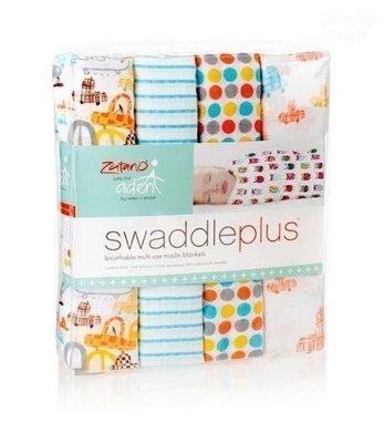 美國Aden+Anais 聯名設計Swaddle 4 Pack 經典童趣 嬰兒棉紗包巾*妮可寶貝*
