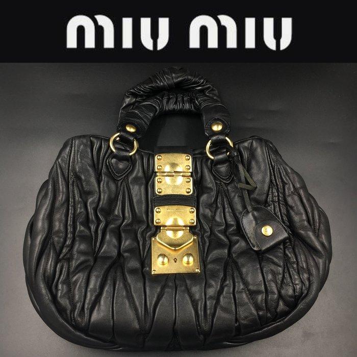【皮老闆】5980起標 二手真品 義大利精品 MIU MIU 手提包 F