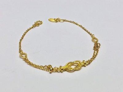 【JHT 金宏總珠寶/GIA鑽石】1.36錢/17.5cm 黃金手鍊 (請詳閱商品描述)
