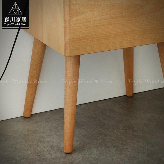 《森川家居》NBF-51BF02-北歐實木山毛櫸床頭櫃 邊櫃客廳臥室房間民宿/收納櫃設計/日式原木LOFT品東西IKEA