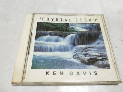 昀嫣音樂(CDa38) CRYSTAL CLEAR - KEN DAVIS 保存如圖 售出不退