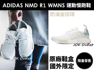 【海外發售】ADIDAS NMD R1 WMNS 全白 粉綠尾 小清新 蒂芬妮 奶油金拉環 運動慢跑鞋 女生尺寸