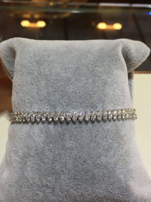 總重5.01克拉天然鑽石豪華手鍊,超值優惠價99800,只有一條,豪華款式,鑽石白火光閃亮適合平時佩戴
