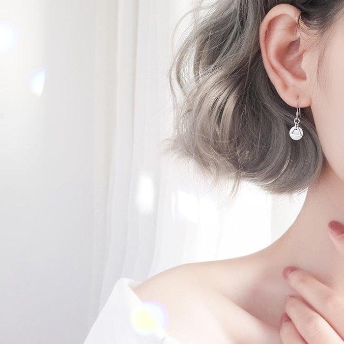 銀春春幾何冷淡風耳環正韓銀質氣質耳釘個性簡約耳墜百搭耳飾港風