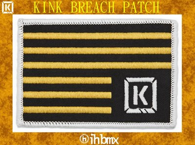 [I.H BMX] KINK BREACH PATCH 徽章刺繡布貼 街道車腳踏車單速車滑步車平衡車BMX越野車