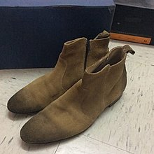 Narrative suede boots shoes Italy Alden APC initial