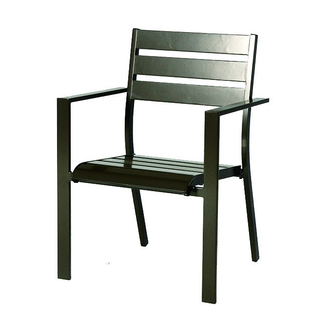 【紅豆戶外休閒傢俱】靠背三板鋁合金餐椅/採用鋁合金製作堅固耐用/庭園/咖啡廳/營業場所/餐廳/中庭/各種場所多適用