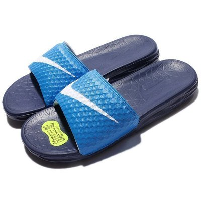 【鞋印良品】NIKE BENASSI SOLARSOFT 藍白 運動 拖鞋 705474402 軟底 舒適 好穿 公司貨
