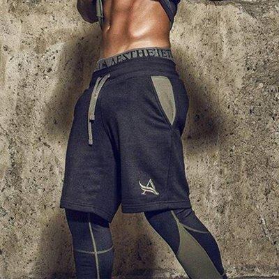 肌肉隊長夏季運動短褲男兄弟健身跑步寬鬆休閒透氣夏天訓練五分褲