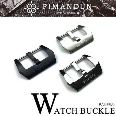 【皮曼頓】高規格精工 316L不鏽鋼 24mm PANERAI字樣 沛納海 勞力士代用 錶扣 手錶配件 錶帶