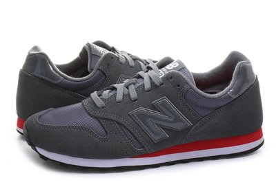 運動GO~ NEW BALANCE 復古 慢跑鞋 ML373MS NB373  深灰 紅邊 麂皮 穿搭 D楦