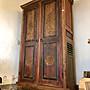 老柚木古董雕花衣櫃衣櫥 (L167 W56 H215 cm...