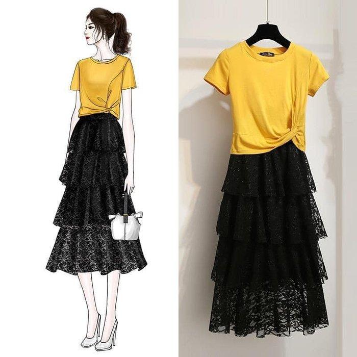 貓姐的團購中心~132D 超仙中长款蛋糕裙套装~S-3XL一套480元~預購款