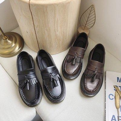 娃娃鞋牛津鞋休閒鞋 小皮鞋女日系森女流蘇黑色平底學生2020夏新款英倫風復古圓頭單鞋