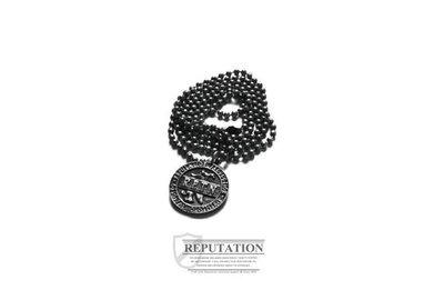 REPUTATION Classic Bronze Fonts Necklace-經典銅牌字體項鍊[仿舊古銀/仿舊銅色]