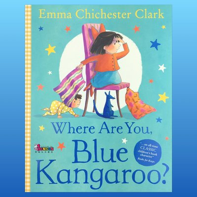 [邦森外文書] Where Are You, Blue Kangaroo? 藍袋鼠~你在哪裡? 平裝本