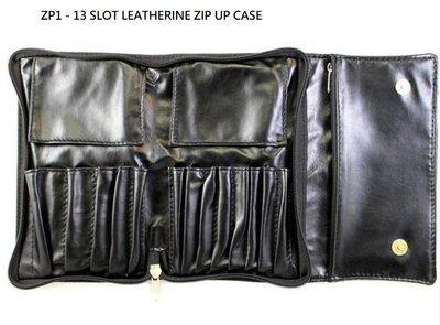 【愛來客】美國 MORPHE ZP1 - 13 SLOT LEATHERINE ZIP UP 13支插孔刷包 化妆刷刷包