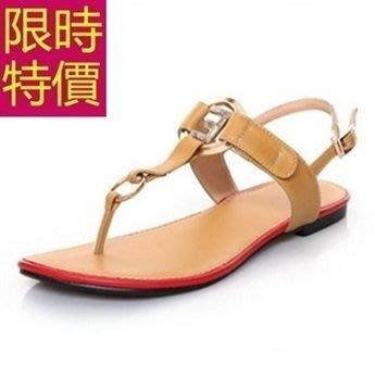平底涼鞋-必買極簡耐穿亮麗女涼鞋2色56l73[韓國進口][米蘭精品]