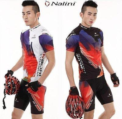 2012爆款 NALINI 意大利車新隊 騎行服 短袖+新短褲套裝 車衣車褲短套裝 男女款