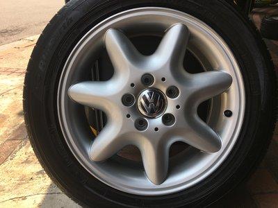 中古 賓士原廠16吋鋁圈 福斯 VW t4 Golf Caddy touran tiguan passat