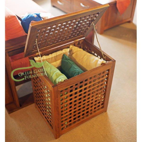 柚木 經典洗衣籃 (小)【大綠地家具】100%印尼柚木實木/經典柚木/柚木洗衣籃/收納籃