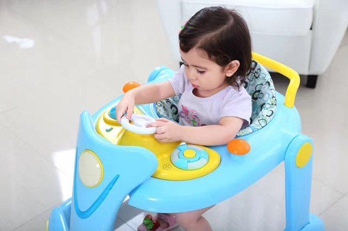 學步車嬰兒童學步車6/7-18個月多功能U型防側翻寶寶帶音樂折疊手推可坐