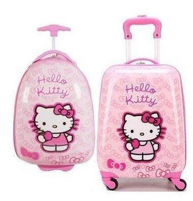 KT兒童拉桿箱冰雪奇緣行李箱芭比娃娃女寶小孩拖拉箱18寸