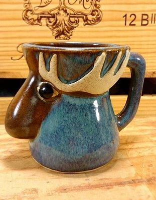 美國Birchctone (R A D DESICNS)工作室設計手工藝術陶瓷糜鹿杯:糜鹿 陶瓷杯 居家 餐具 藝術