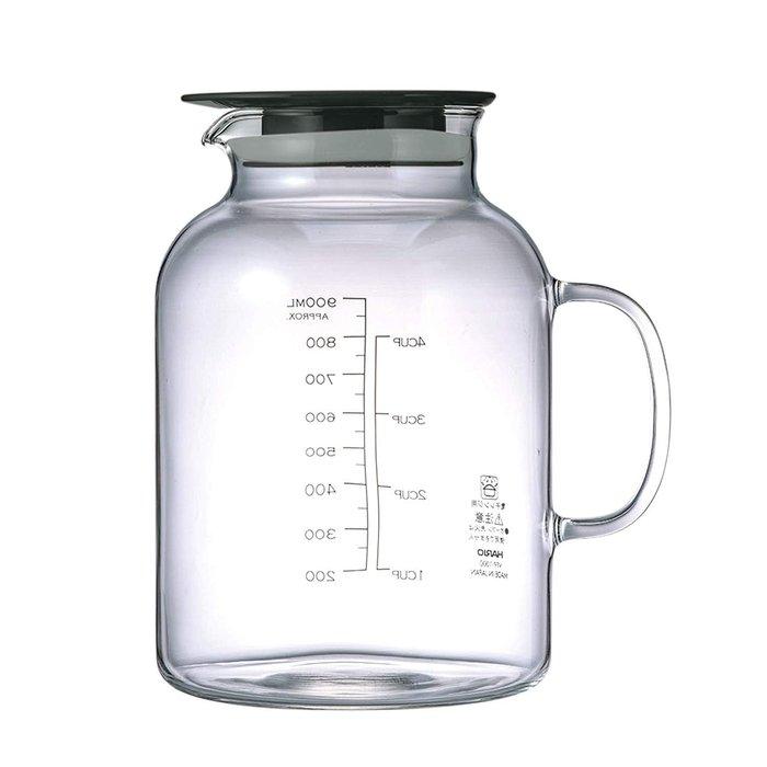 [霜兔小舖]日本代購 日本製 HARIO 水果醋 水果酒 醃製 附手把玻璃壺 1000ML