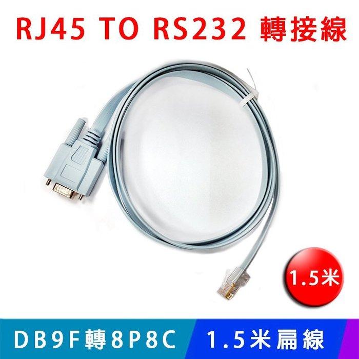 【易控王】網路 轉 RS232 1.5米扁線 RJ45 TO RS232/DB9F轉8P8C (40-741)