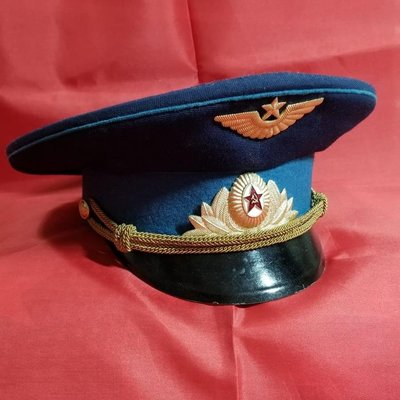 Obsolete Soviet M69 Air Force Officer Parade Uniform Peaked Cap