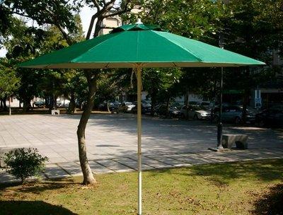 [兄弟牌戶外休閒傢俱]9尺玻纖鐵柄防水太陽傘(綠色 270cm)+12kg鑄鐵傘座/1組,抗UV抗風強、庭園休閒桌椅!!