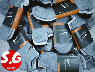 S.G NIKE 基本款 小勾勾 薄底 踝襪 船型襪 棉質 運動襪 3雙一組 黑灰白 男女襪 SX4705-901