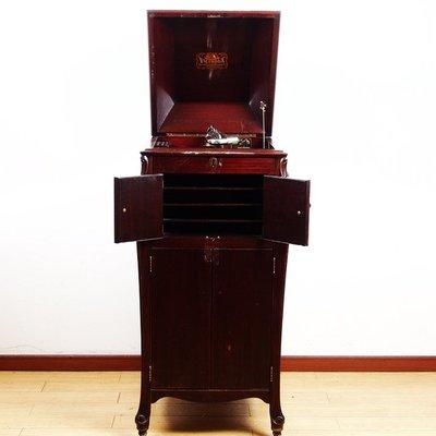 百寶軒 1920S古董小狗牌勝利牌Victor落地式櫃機78轉手搖留聲機黑膠唱機 ZG3786