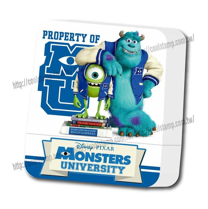 迪士尼印章 怪獸大學 方塊章 印章 正版授權 印章 卡通印章 姓名印章