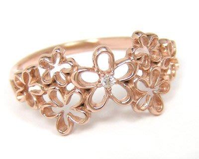 *misaki*の日本Jewelry純代購【日本網路飾品】天然鑽石  純10K玫瑰金戒指【日本 埼玉店】
