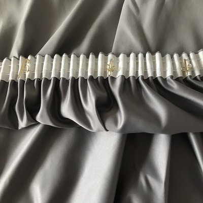 窗簾物理遮光打孔掛鉤窗簾加遮光襯布無異味無涂層輕薄好防曬多色可選遮光布【有你真好】