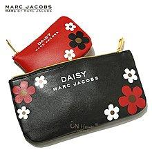 IN House* 日小雛菊化妝包手機卡片收納袋零錢包 黑+紅2件組 (特價)