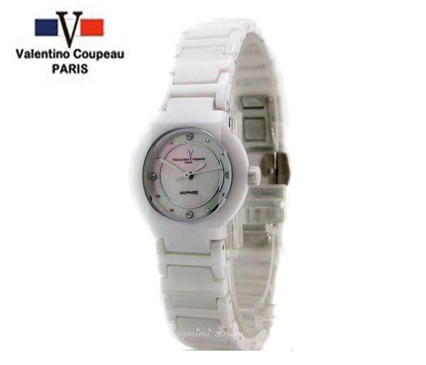 【JAYMIMI傑米】Valentino范倫鐵諾古柏陶瓷腕錶-超級質感陶瓷錶-藍寶石鏡面-情侶對錶 小白