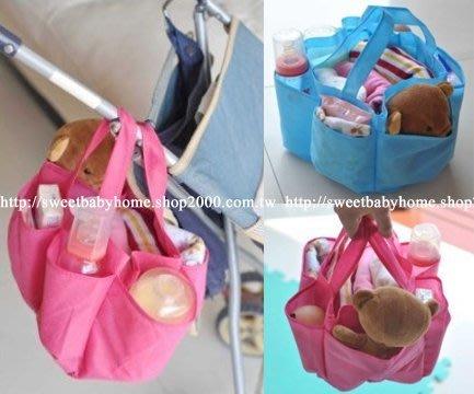 【批貨達人】推車手提式媽媽袋 收納分格收納袋 包中包