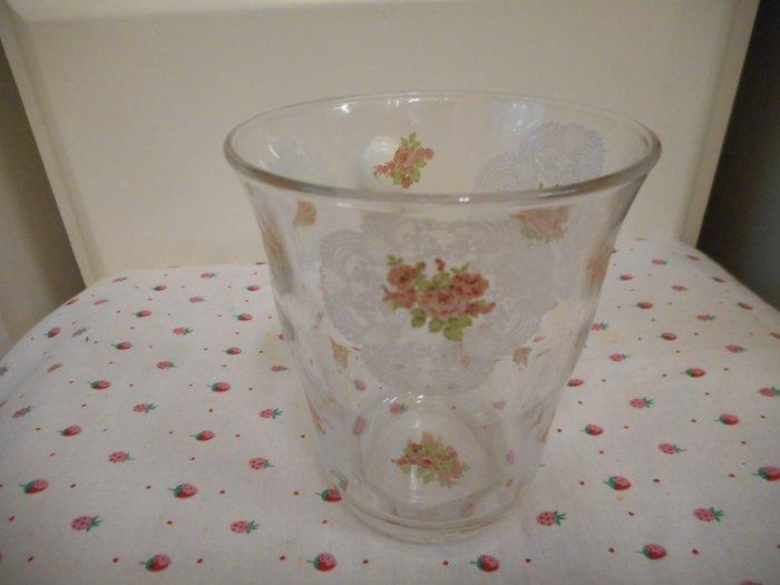 ~~凡爾賽生活精品~~全新日本進口蕾絲玫瑰花造型水杯.玻璃杯~日本製