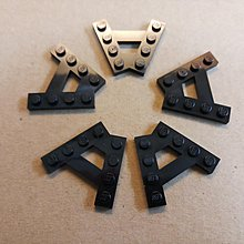全新 Lego 散件 黑色 Plate (A) 4M 45° (6054852) 5pcs