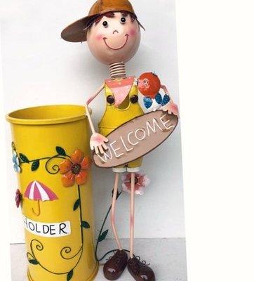 屏東&易匠 ,超大鐵製娃娃雨傘筒,自用,送禮,佈置,民宿,餐廳,商業空間