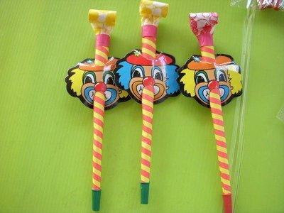 小猴子玩具鋪~~ 超可愛趣味聲響長形吹龍(小丑)一套24隻(12包)~售價:80元/套