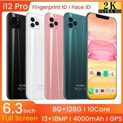 低價促銷 蘋果款 i12 pro 6.3寸智慧手機大容量 8G+128G 八核  安卓9.1系統 智能手機 #13551