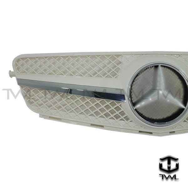《※台灣之光※》全新BENZ W204 C180 C250 C300跑車式CL樣式單線大星白色水箱罩