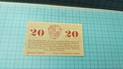 7399奧地利1920年20希拿