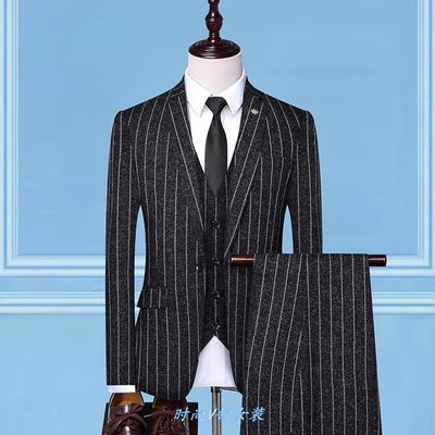 卓銳正韓男裝2021Plaid Suit Men's Groom Wedding Business Dress Suits Set
