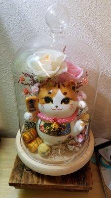 細招財貓保鮮花瓶